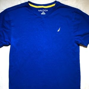 Blue boys Nautica T-shirt size Large 14/16